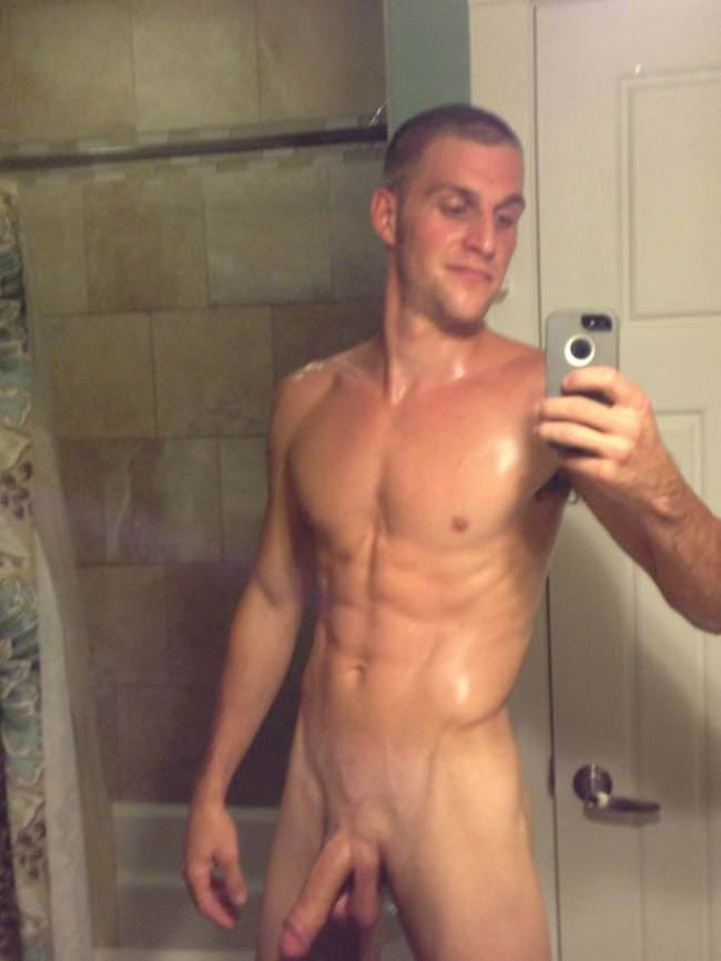 Sexy Dude Posing Naked In The Mirror - Nude Man Cocks