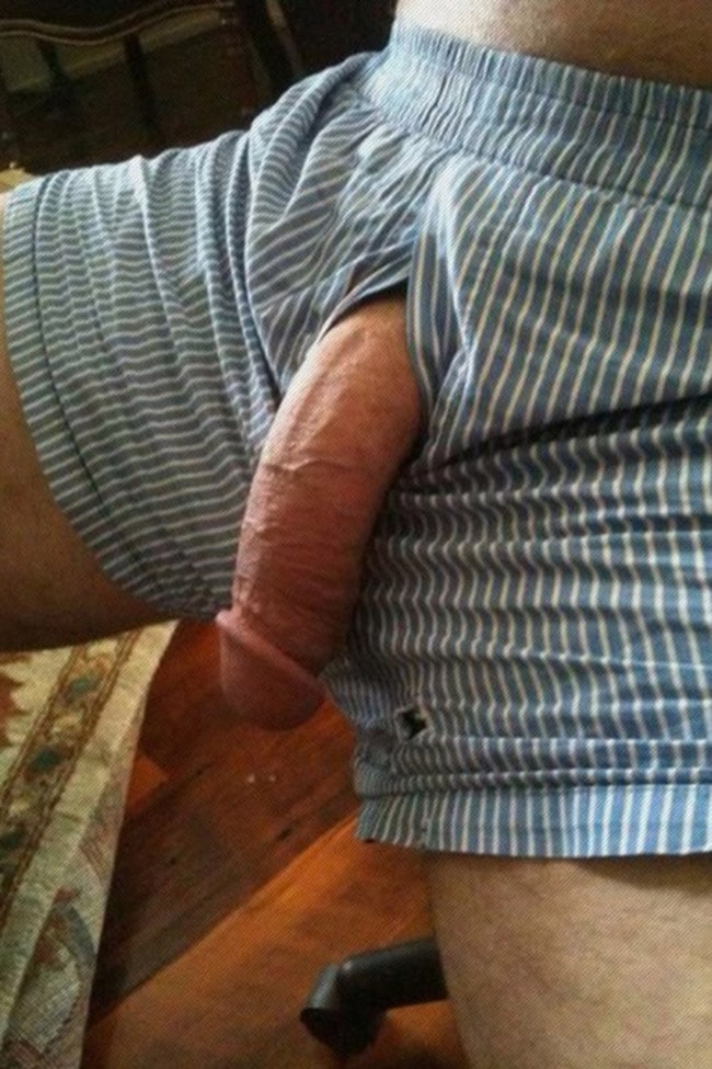 Big dick in boxers