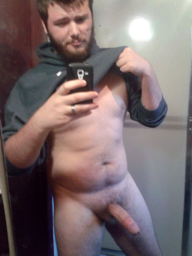 Fat Dude Shows He Got A Massive Dick - Nude Man Cocks