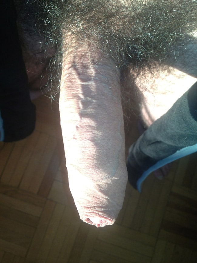 Close Up View Of A Hairy Dick Of A Guy - Nude Man Cocks
