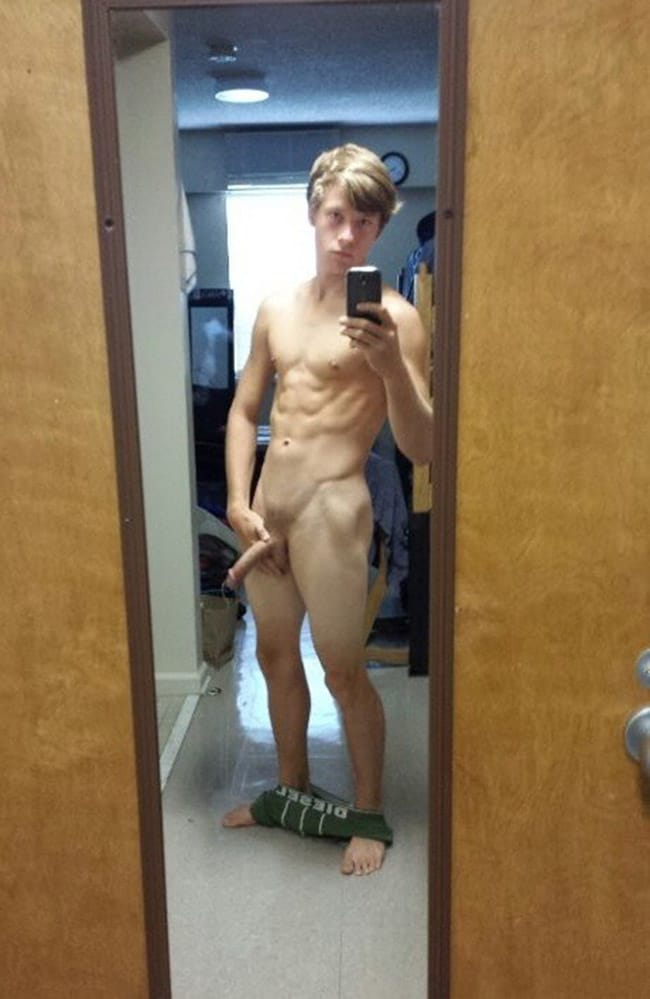 Strong Man Showing A Nice Erect Cock - Nude Man Cocks